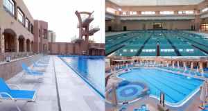 حمام اوليمبي ونصف اوليمبي مغطي وحمام ترفيهي وحمام أطفال