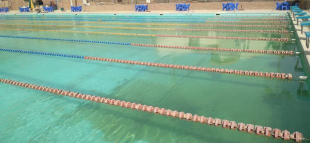 حمام السباحة بنادي المعادي بالقطامية