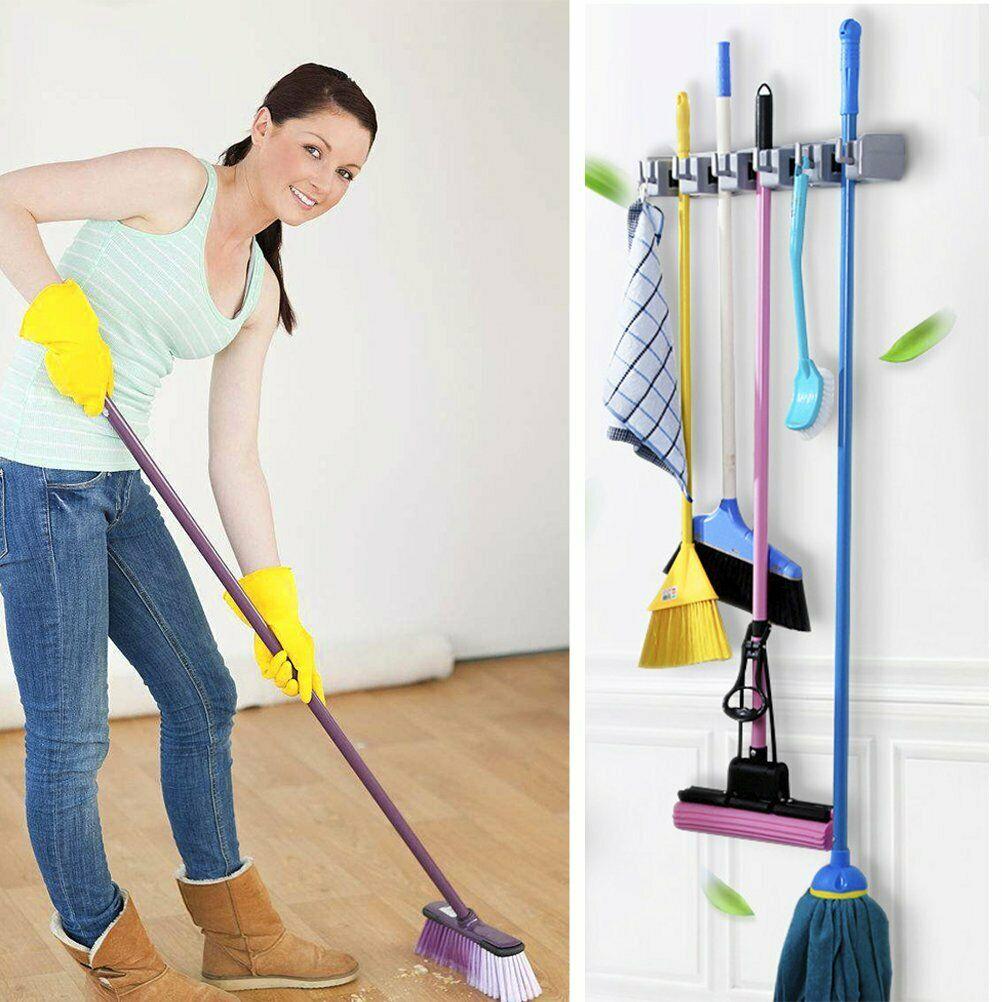 حامل ومنظم ادوات النظافة والمكانس والمساحة والجاروف