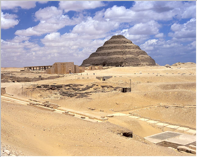 King Djoser's step pyramid in Saqqara