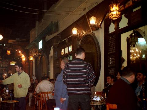 el-Fishawi's coffee-shop in Cairo