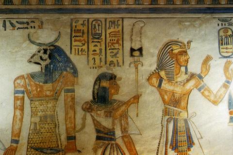 Amunherkhopshef with his father Rameses III