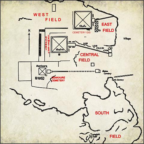 Plan of the Giza Necropolis