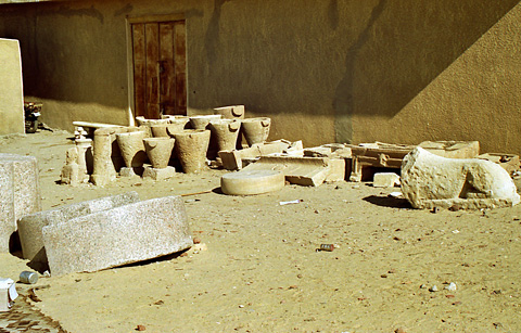 Pottery outside the museum building