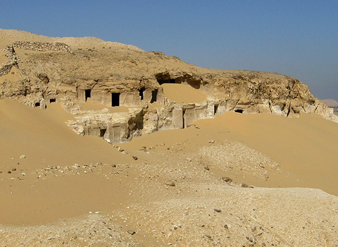 Old Kingdom tombs at Meir