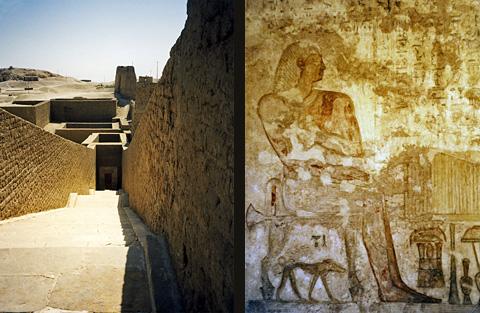 Chief Steward Pabasa and his tomb entrance