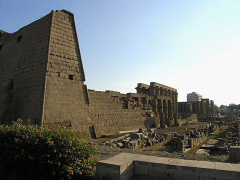 Western walls of Luxor Temple
