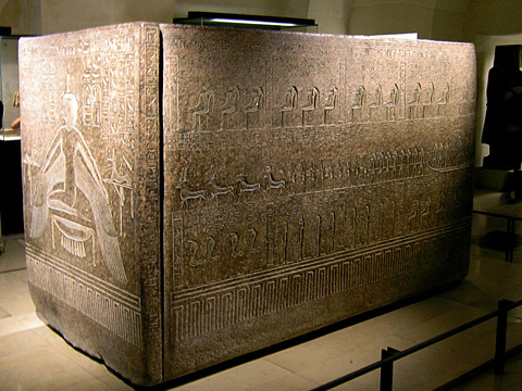 Sarcophagus of Rameses III in the Louvre