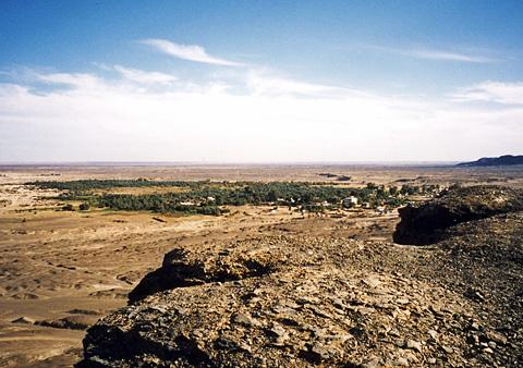 View over Bahariya Oasis