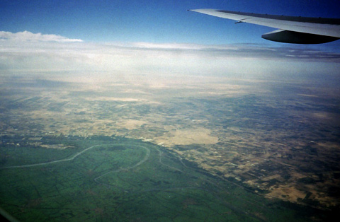 Flying over the Delta