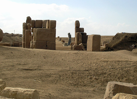 Processional way in the Temple of Amun