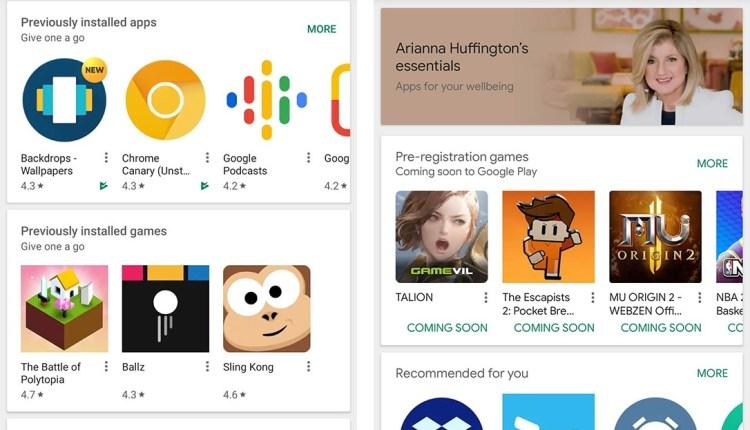 google-play-layout