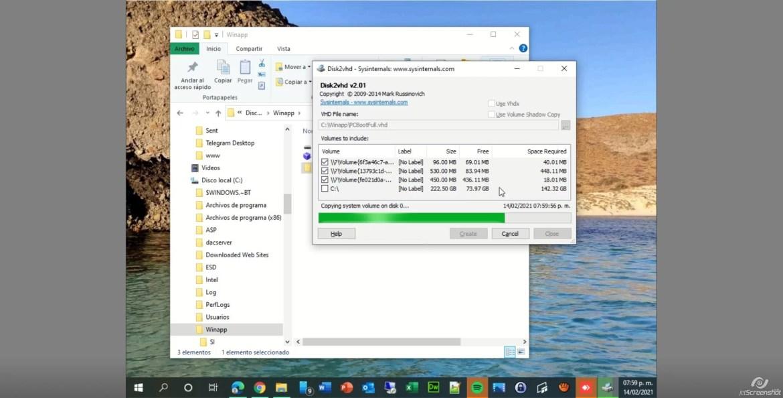 disk2vhd - Generación de máquinas virtuales