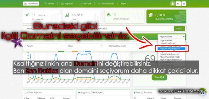"""Domain nedir bilmeyenler için, web adresi ve sonundaki """".com"""" ile biten yazının adı Domain'dir."""