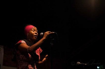 A poet at Ehalakasa Talk Party