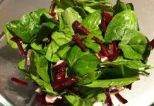 Салат со шпинатом _