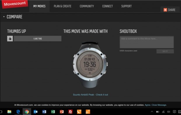 review suunto ambit 3 peak movescount