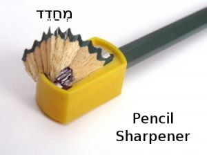 How to Say Pencil Sharpener in Hebrew