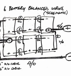 your balanced battery wiring was very helpful but i struggled to find a schematic showing how to wire 6 batteries in a balanced fashion  [ 1199 x 960 Pixel ]