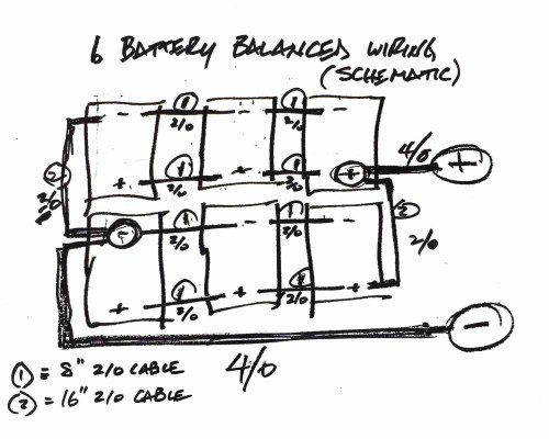 small resolution of your balanced battery wiring was very helpful but i struggled to find a schematic showing how to wire 6 batteries in a balanced fashion