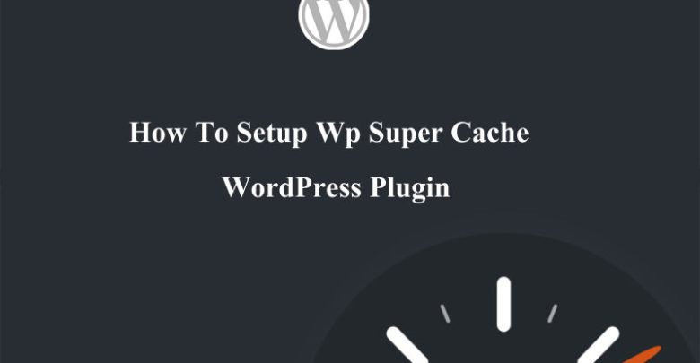WP super cache plugin