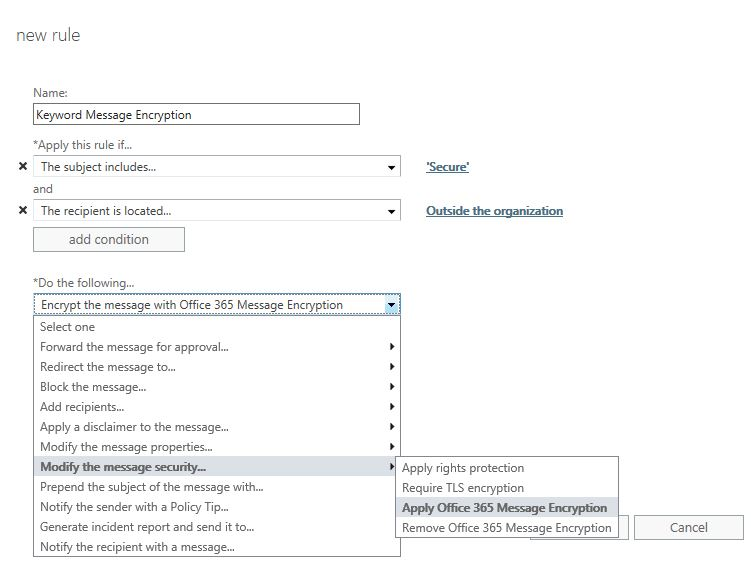 Office 365 Message Encryption Policies – ehloExchange com