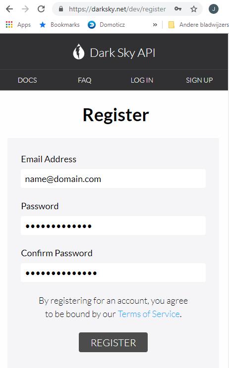 Darksky API