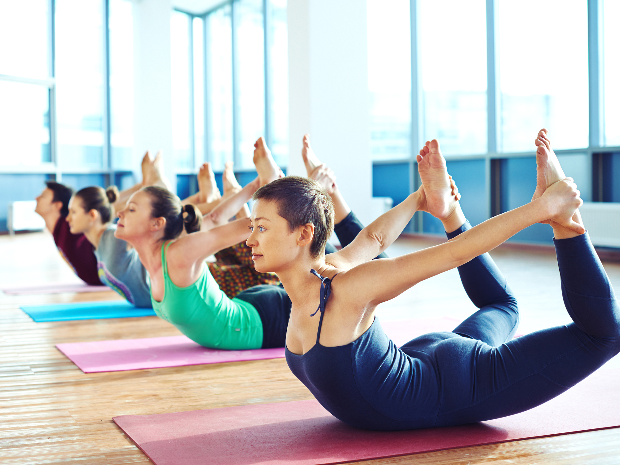 Using yoga to loosen legs hips and reduce fatigue  Easy