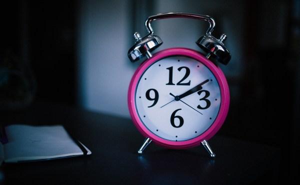 Image of alarm clock at night