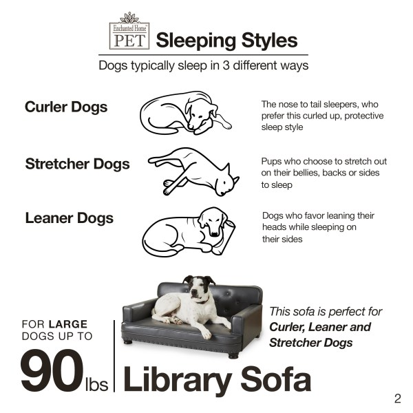 Library Pet Sofa Brown Pebble