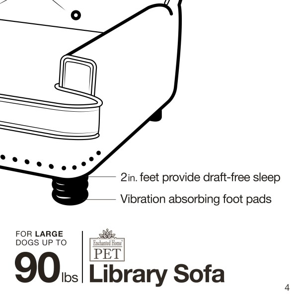 Library Pet Sofa Brown Pebble