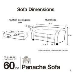 Panache Dog Sofa Sears Canada Cleaning Black Enchanted Home Pet