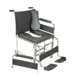 Commode Wheelchair - Foldable
