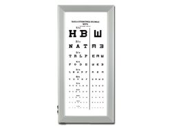 ULTRA SLIM LED OPTOMETRIC CHART - Mixed decimal
