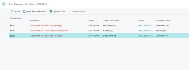 Check Journals errors
