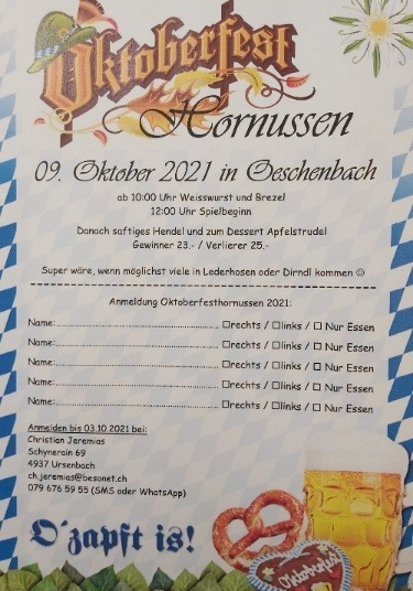 Oktoberfesthornussen