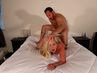 69 and Sex with cumshot on her chest.