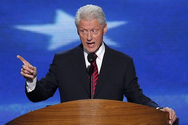Former President Bill Clinton at 2012 Democratic National Convention - Reuters