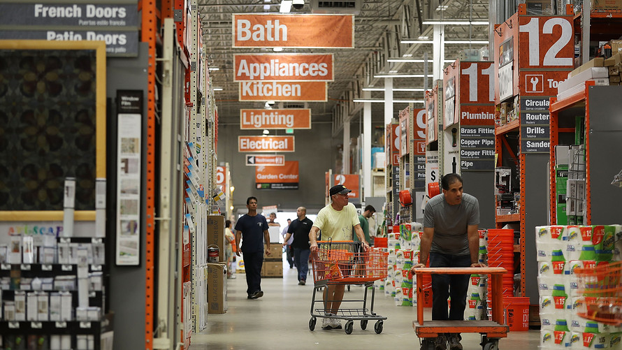 Home Depot Sales Lifted By Tax Cuts And Booming Housing