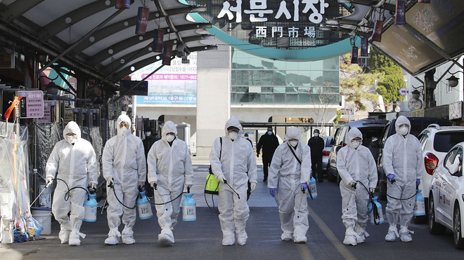 South Korea goes on high alert over virus, Italy battles to ...