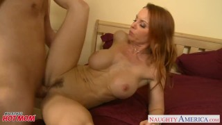 Firm bodied redhead mom Janet Mason gets fucked