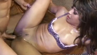 Smoking hot Asian bitch fucking a fat dick so hard
