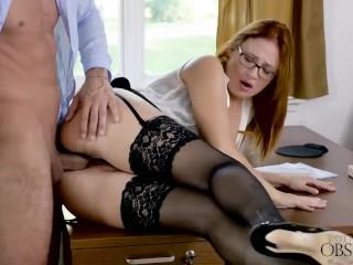 Babes – Ginger has some fun at work, Eva Berger