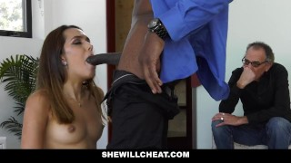 She Will Cheat - Hot Young Wife Fucks BBC While Husband Watches