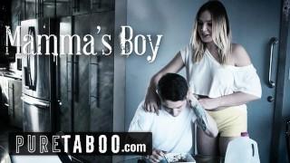 PURE TABOO Blair Williams Tricks Momma's Boy StepBro into Fucking!