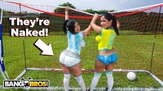 BANGBROS - Sexy Latina Pornstars With Big Asses Play Soccer And Get Fucked