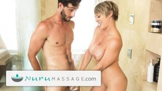 NuruMassage Tailed Friend'porno Mom 2 Work & She Massaged My Dick