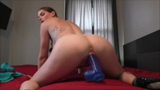 MILF Aria Khaide Takes 3 Huge Dildos and Squirts