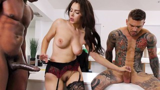 Cuckold Husband Offers Up Her Wife Valentina Nappi For Interracial Anal Sex