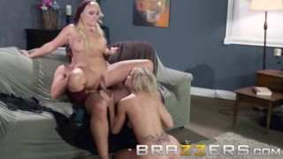 BRAZZERS - Alexis Monroe & Jessa Rhodes share one lucking cock